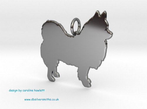 Pomchi charm solid sterling silver Handmade in the Uk